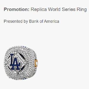 Los Angeles LA Dodgers 2020 Replica World Series Ring Presale 8/18/21 SGA