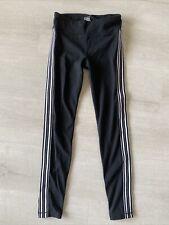 Athleta Girl Black White Stripe Chaturanga Athletic Leggings Size M 8-10
