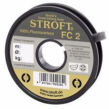 Angelschnur STROFT FC2 Fluorocarbon Vorfach Tippet Schnur 25m 50m 100m Spulen FC