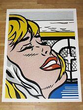 "ROY LICHTENSTEIN POSTER "" SHIPBOARD GIRL "" COMIC POP ART in MINT"
