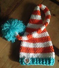 Gorro Duende Elfo Crochet Conjunto Artesanal 6 Meses Nuevo Fotografía Bebe 8b885ce86ff