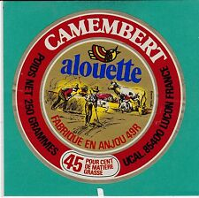 I671 FROMAGE  MONTREUIL BELLAY MAINE ET LOIRE  LUCON VENDEE ALLOUETTE