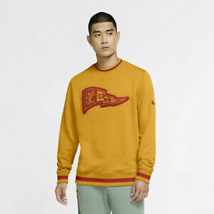 Men Nike Class of 72 Club Fleece Crew Gold Banner Red NSW 1972 DC2738-739 Size L