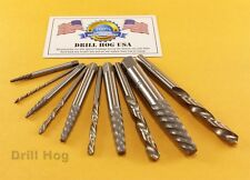 Left Hand Drill Bits Left Handed Screw Extractor Lifetime Warranty Drill Hog USA