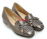 New Tassel Bowtie Slip on Loafers Spring Fall Womens Pumps flats Shoes Plus Size