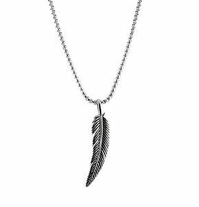 Silber Herren Männer Halskette Edelstahl Feder Flügel Ketten Adler Engelsflügel