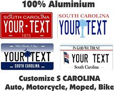 South Carolina Custom Personalized Car Motorcycle Bike Bicycle License plate Tag