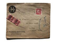 Sweden 1931 Cover - 1925 Gustav V Red 15 Ore & Two Us Postage Due Precancel