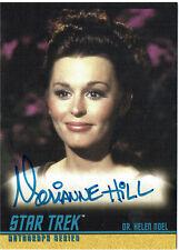 Star Trek TOS 40th Anniversary Autograph Card A128 Marianne Hill Dr Helen Noel