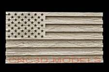 New Listing3d Stl Model For Cnc Router Carving Artcam Aspire Usa Flag America D600