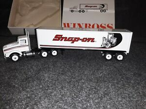 🔥 Limited Edition Superb New Winross Snap-on Tool Semi Tractor Trailer 1/64