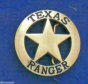 Texas Ranger Badge Belt Buckle (Seconds)