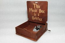 This Music Box Is Horcrux - Harry Potter Music Box - Hand Crank Engraved Wooden