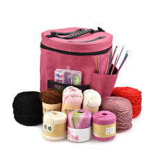 Pro Dual Slot Knitting Bag Storage For Wool Yarn Crochet Needles Tub Protects