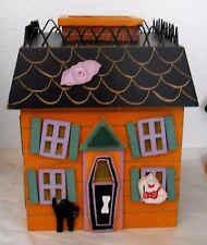 "Halloween 8X6X6"" Haunted House Kleenex Box Holder or Battery Light - Spooky!."