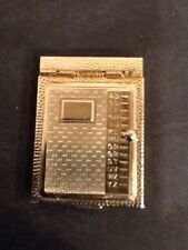 MINIATURE VINTAGE ANTIQUE TELEPHONE ADDRESS BOOK GOLD TONE METAL  ****