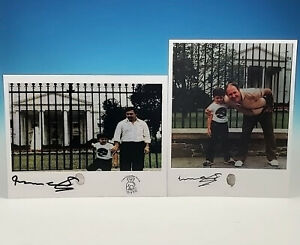 Pablo & Roberto Escobar White House Photo Autograph Signed Fingerprint Narcos