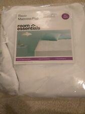 """New Room Essentials Basic Mattress PadTwin Xl Dorm Bed 15"""" Mattress Depth"""