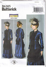 Historical Victorian Top Front Drape Skirt Dress Sewing Pattern 16 18 20 22 24