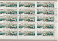 Hungary Used Bridges Stamps Sheet Ref: R6998