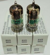 MATCHED PAIR NOS NIB SYLVANIA JAN 6922 TUBES ECC88 7308 SINGLES OR QUADS AVAIL