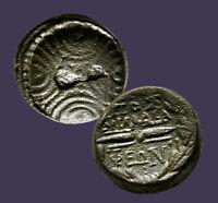 Archaios | Lydia PHILADELPHIA Macedonian Shield / Thunderbolt in Wreath| AE|20.2