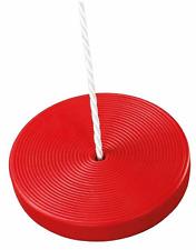 Kinderschaukel rote Tellerschaukel SCHAUKEL aus Kunststoff Ø 28cm PE-Seil Ø10mm
