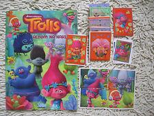 trolls topps  stickers album complete set