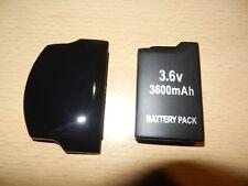 Pile batterie Sony PSP 2000 2004 3000 3004 ACCU 3600 mAh + Dick Couvercle Couvercle De Batterie D'