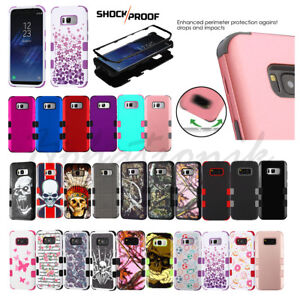 Samsung GALAXY S8 /PLUS Impact HYBRID Shockproof Armor Rubber Rugged Case Cover