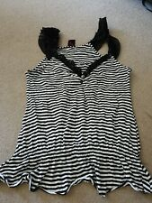 G21 Black And White Striped Top Size 12