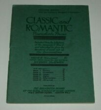 CLASSIC AND ROMANTIC PIANOFORTE PIECES - ROYAL SCHOOL OF MUSIC MINIATURE EDITION