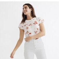 New Madewell XS The Perfect Vintage Tee in Paradise Toile Sketch Island Tree Nwr