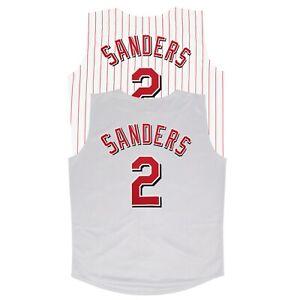 Deion Sanders 2001 Cincinnati Reds Home & Grey Vest Jersey Men's (M-2XL)