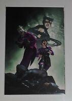 BATMAN #100 MIGUEL MERCADO VIRGIN VARIANT PUNCHLINE JOKER CATWOMAN
