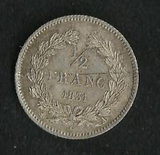 1/2 Franc Louis Philippe 1831 A Argent TTB + à SUP