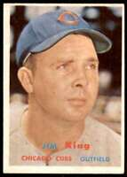 1957 Topps Jim King Chicago Cubs #186