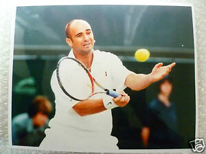 Tennis Press Photo- ANDRE AGASSI- USA Player in action against Wayne Arthurs Aus