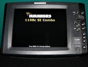 Hummingbird 1198c SI Fishfinder GPS Chartplotter Side Imaging Unit 1198si/1198