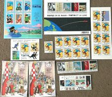 More details for rare belge post/moulinsart tintin postage stamp collections individual purchase