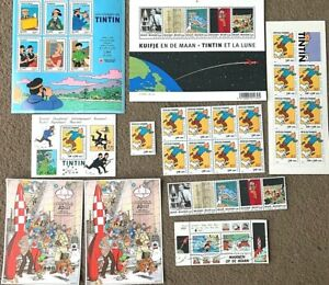 Rare Belge Post/Moulinsart Tintin Postage Stamp Collections INDIVIDUAL PURCHASE
