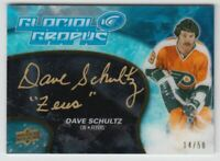 2018-19 Upper Deck Ice Glacial Graphs Black #GGDS Dave Schultz Auto /50