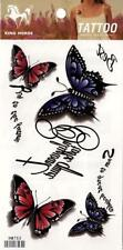 Temporary Tattoo Large Beautiful Butterflys Body Art Removable HM753