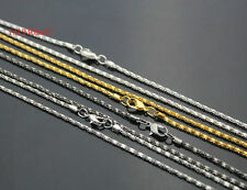 """Pick! Wholesale Lots Plated 4 Color Hollow Snake Chain Necklace With Clasp,23"""""""