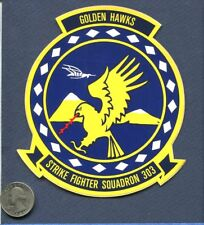 Decal VFA-303 GOLDEN HAWKS SQUADRON US NAVY F-18 HORNET With Patch Image