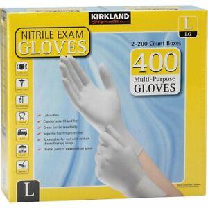 KIRKLAND GLOVES LARGE Multipurpose Nitrile Exam Powder Latex free LARGE Exp03/25