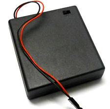 Titular de la batería RC C1201-1 Estuche Caja Pack 4 AA compatible JR 3 Pin