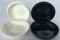 Tupperware S&P 1-oz Midgets Salt & Pepper Shakers Set of 2 Black White RARE New