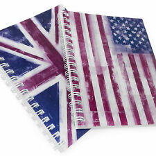 Monster Stationery - Distressed Flag A5 Lined Notebook - Made in Uk - 1 of Each