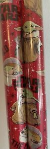 1 Mandalorian THE CHILD Baby Yoda 70sq ft Star Wars Wrapping Paper Gift Wrap
